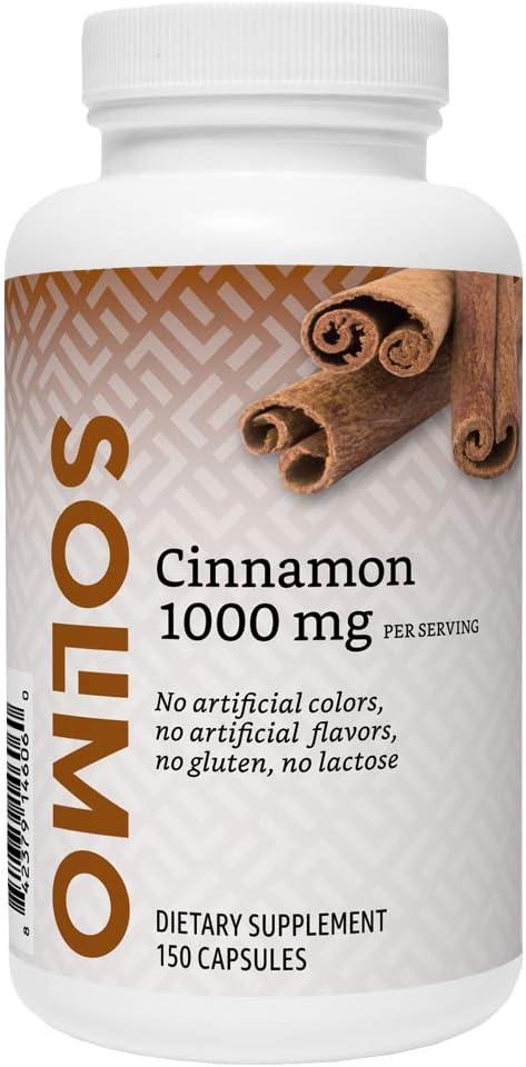 Amazon Brand - Solimo Cinnamon 1000 mg, 150 Capsules (2 Capsules per Serving)