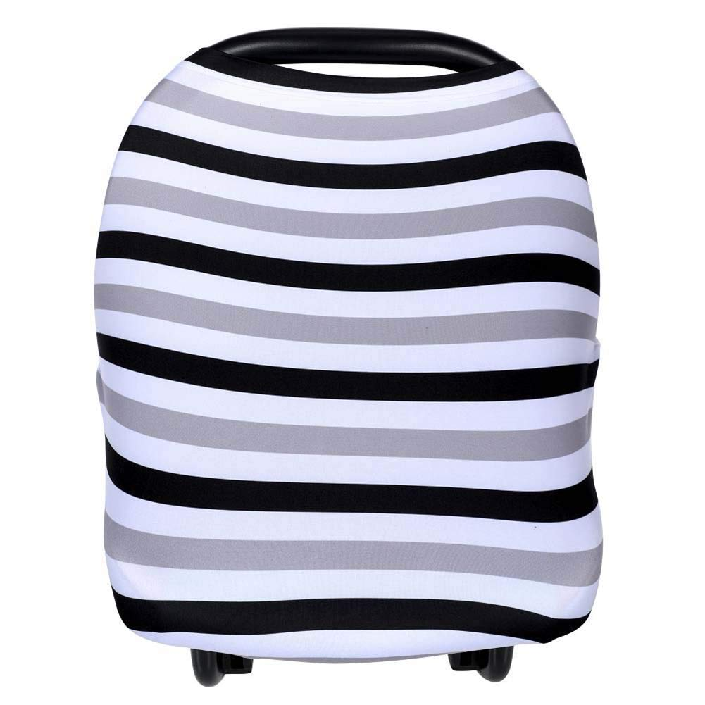 Egmao Baby Car Seat Cover Canopy and Nursing Cover Multi-use Stretchy Shopping Cart,High Chair Cover for Unisex Baby