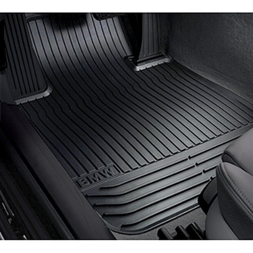 BMW 5 Series GT (F07) all-weather floor mats, REAR BLACK (front mats pictured)