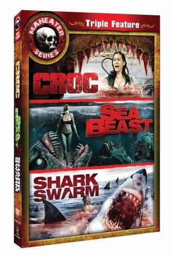 Maneater Series Triple Feature: Croc / Sea Beast / Shark Swarm