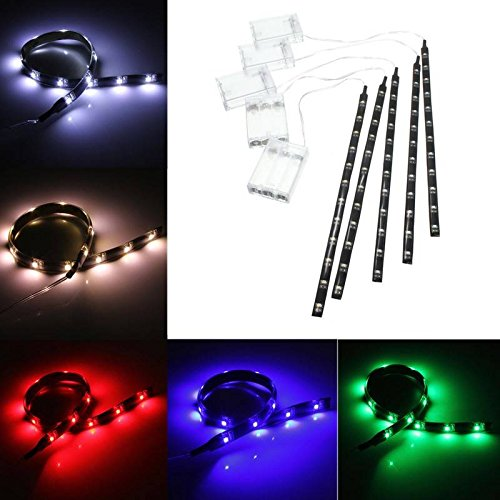 led strip light glime 12 inch 4 5v battery operated flexible import it all. Black Bedroom Furniture Sets. Home Design Ideas