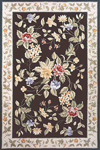 Momeni Rugs SPENCSP-16BLK2030 Spencer Collection, 100% Wool Hand Hooked Traditional Area Rug, 2' x 3', Black 3' Hand Hooked Wool Rug