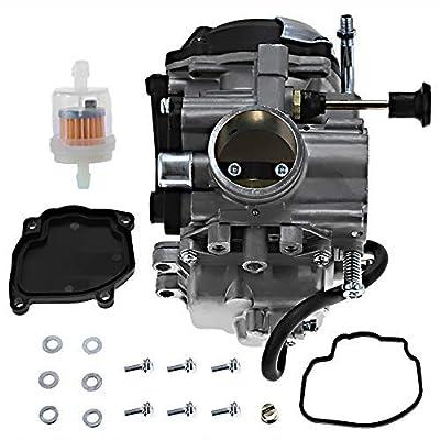 Zreneyfex Carburetor for Yamaha Big Bear 350 YFM350FW 4X4 1997 1998 1999 4WU-14901-00-00: Garden & Outdoor