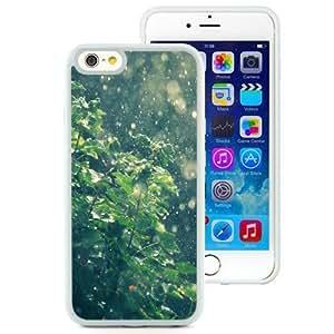 NEW Unique Custom Designed iPhone 6 4.7 Inch TPU Phone Case With Summer Rain Water Drops Bokeh_White Phone Case