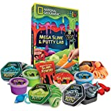 NATIONAL GEOGRAPHIC Mega Slime & Putty Lab - 4 Types of Amazing Slime + 4 Types of Stretchable Putty Including Magnetic Putty, Fluffy Slime