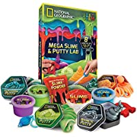 NATIONAL GEOGRAPHIC Mega Slime & Putty Lab - 4 Types of...