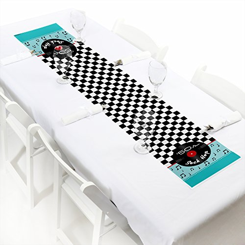 50's Sock Hop - Petite 1950s Rock N Roll Party Paper Table Runner - 12