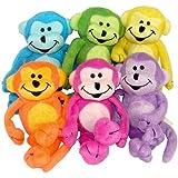 Plush Neon Bean Bag Monkeys (1 dz) [Toy]