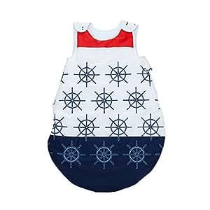 Navy PatiChou Sacos de dormir sin relleno para bebés 24 - 36 meses (