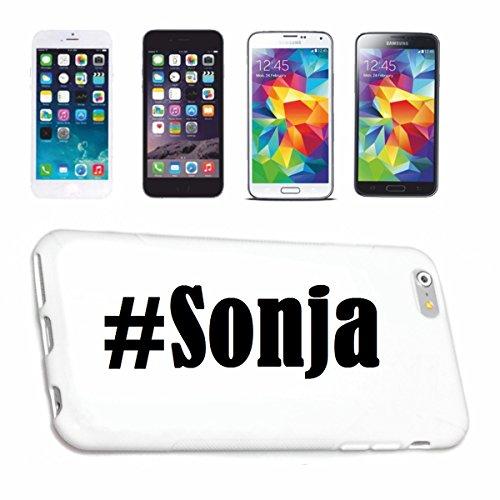 Handyhülle iPhone 7+ Plus Hashtag ... #Sonja ... im Social Network Design Hardcase Schutzhülle Handycover Smart Cover für Apple iPhone … in Weiß … Schlank und schön, das ist unser HardCase. Das Case w