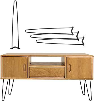 4er Tischbeine Hairpin Leg Schwarz Haarnadelbeine Tischgestell Stahl 41//71cm