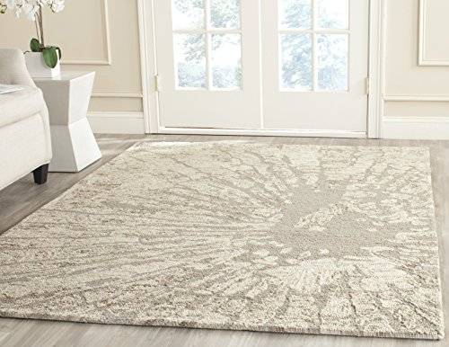 (Safavieh Bella Collection BEL656A Handmade Modern Abstract Winter Taupe Premium Wool Area Rug (8' x 10'))