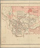 Vintography Reprinted 18 x 24 1883 Map of Washington, D.C. Leavitt's map with Views of The White Mountains, New Hampshire United States General Land Office 0 0 82a