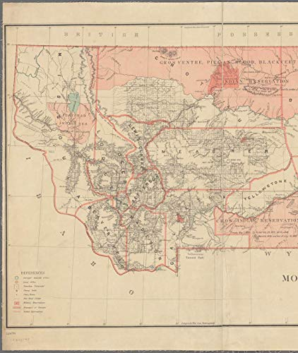 Vintography Reprinted 18 x 24 1883 Map of Washington, D.C. Leavitt's map with Views of The White Mountains, New Hampshire United States General Land Office 0 0 82a by Vintography