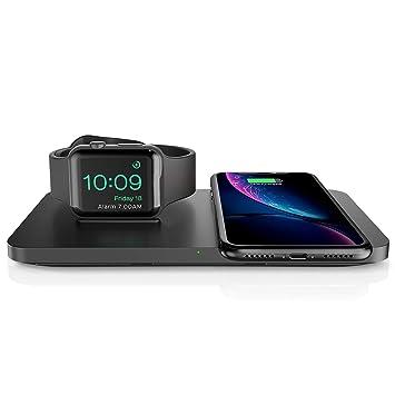 Seneo Dual Cargador Inalámbrico 2 en 1, 7.5W Carga Rápido para iPhone 11 Pro Max/11 Pro/11/XR/XS Max/Xs/X/8/8P y AirPods Nueva, con Carga Soporte de ...
