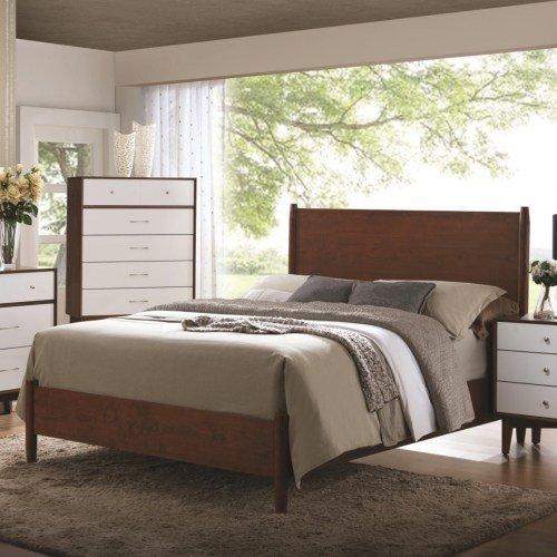 Mid Century Bed Amazoncom