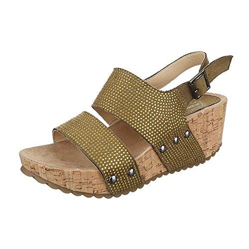Ital-Design - Sandalias de vestir de Material Sintético para mujer marrón
