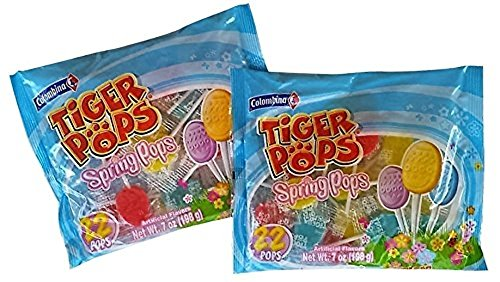 (Easter Egg Tiger Pops Suckers - 2 Bags)