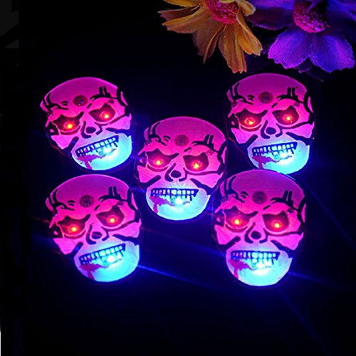 Halloween Flashing Pin (25 PC LED Light Up Halloween Flashing Party Favor Pins - Various Styles by Mammoth Sales (Mummy))