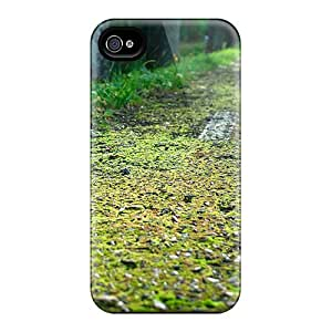 Premium Tpu Grassy Pathway Cover Skin For Iphone 4/4s