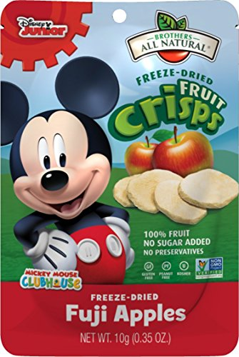 Brothers-ALL-Natural Fruit Crisps, Mickey Mouse Fuji Apple, 0.35 Ounce (Pack of 24)
