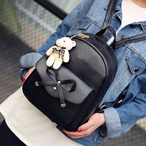 Handbag JESPER Crossbody Backpack Sets Four Pieces Women Bag Black Shoulder Bags Four Tote pwwqUIfx