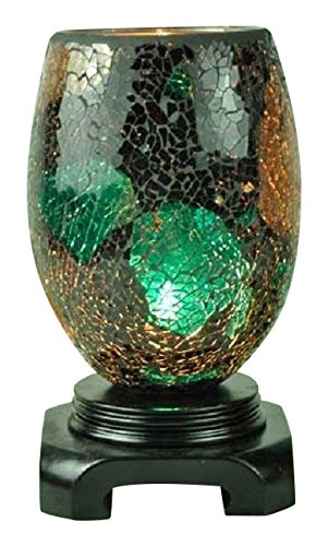 EcoScents Electric Aroma Lamp and Oil Burner with Dimmer Switch, Mosaic Glass Design, Sophie