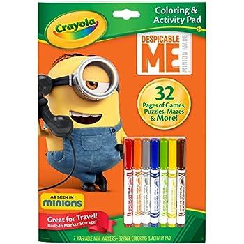 Amazon Crayola Color and Activity Book Minions