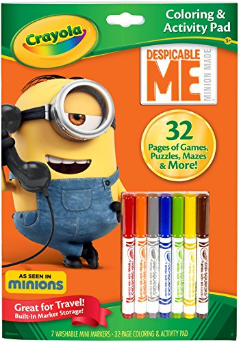 Crayola Despicable Me Coloring & Activity Pad Markers Toy