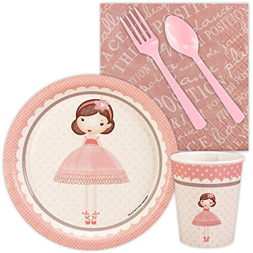 Ballerina Tutu Dessert Plates (Ballerina Tutu Snack Party Pack Bundle)