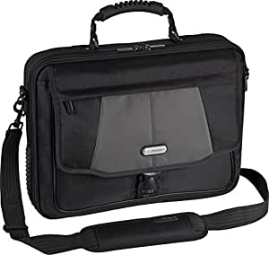 """Targus Blacktop Deluxe 17"""" Laptop Case with Dome Protection, Black/Gray (CPT401DUS)"""