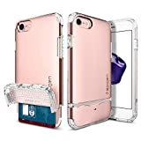 #1: Spigen Flip Armor iPhone 7 Case/iPhone 8 Case with Durable Protection and Hidden Card Storage for Apple iPhone 7 (2016) / iPhone 8 (2017) - Rose Gold