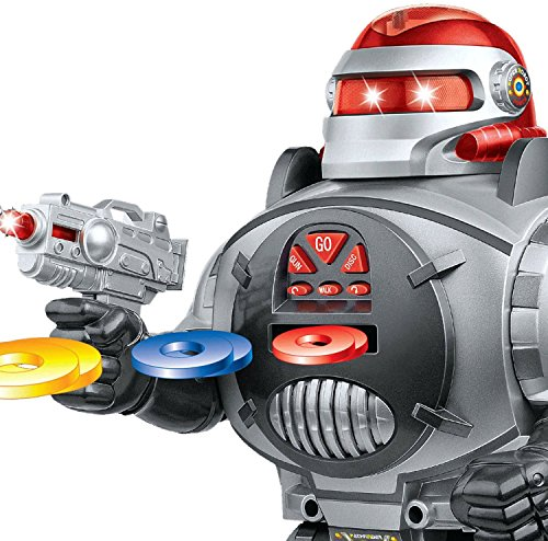 Thinkgizmos Remote Control Robot Fires Discs, Dances, Talks – Super Fun RC Robot