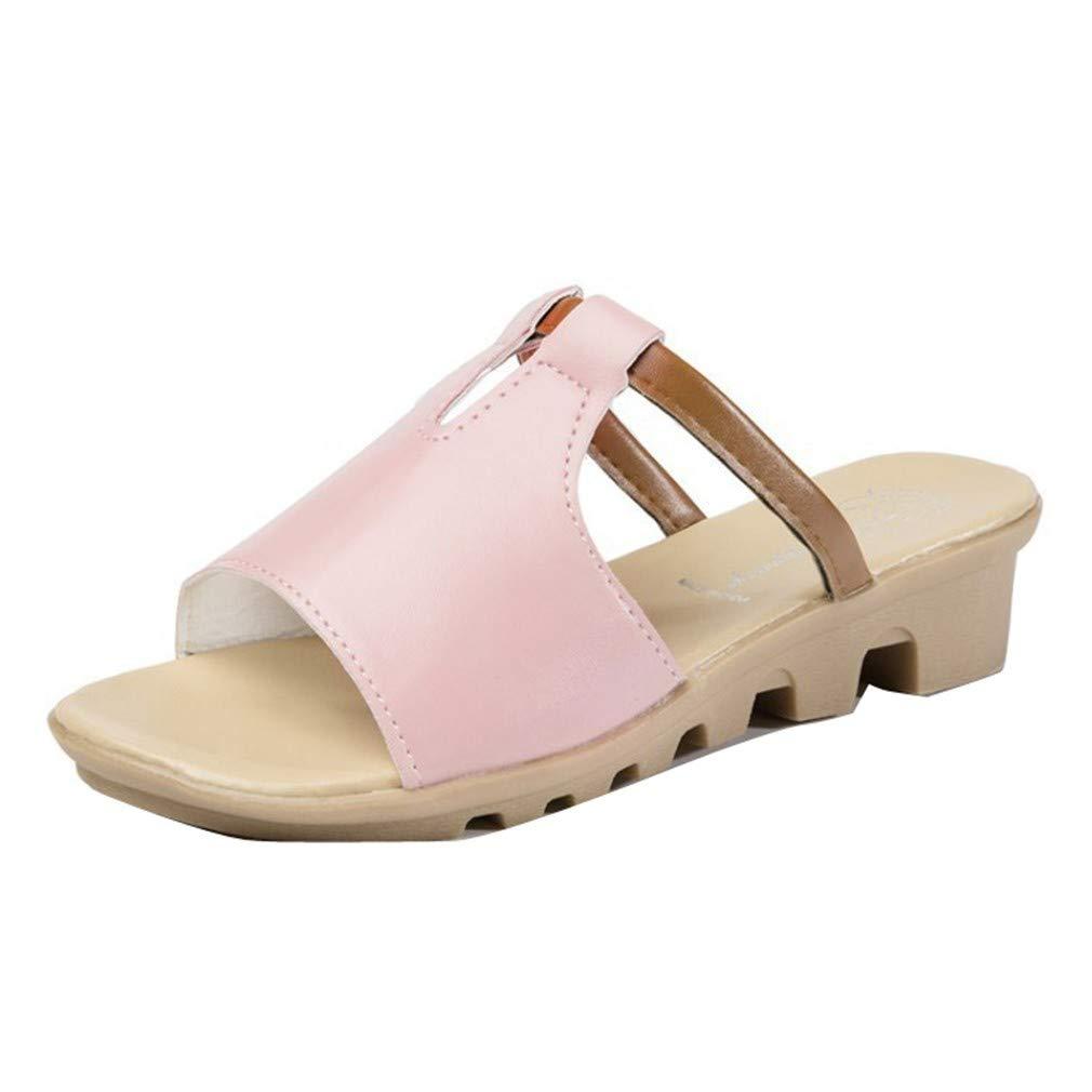 YUCH Chaussons Femmes Femmes Pentes Plates Et 19253 Chaussures De Plage Plage Occasionnels Pink 33fe56b - digitalweb.space