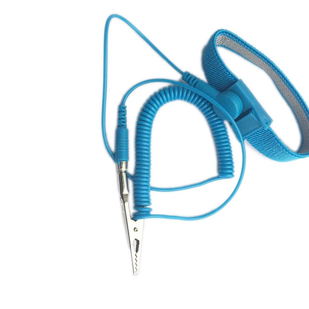 Anti statique PVC poignet bande ESD poignet bracelet antistatique Wristband de d/écharge de bande /à la terre Pr/évenir Static Shock Mengonee