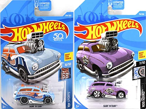 Hot Wheels 2018/2019 Basic Vehicle - Surf 'N Turf (Light Blue & Purple) - Set of 2!