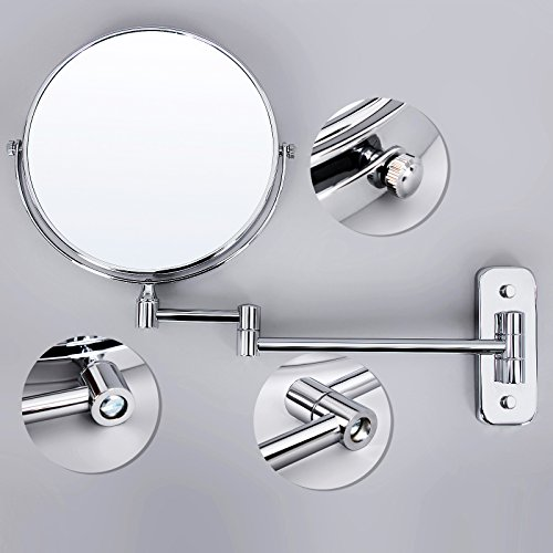 Songmics 7x Magnifying Wall Mount Makeup Mirror 8 Inch Two