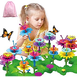 Girls Toys Flower Garden Building Toys for 3 4 5 6 Years Old Girls and Boys Toddlers Kids Gifts for 3+ Years Old Birthday Christmas Building Block Toys for Indoor &Outdoor Education Stem Toys-96PCS