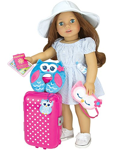 playsets doll travel play set by sophia 39 s piece doll accessory luggage set for ebay. Black Bedroom Furniture Sets. Home Design Ideas