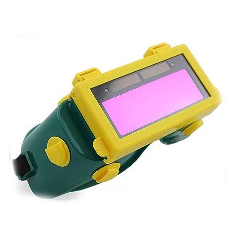 Oscurecimiento auto solar LCD soldadura Casco Seguridad Gafas de soldadura soldador Antifaz para dormir