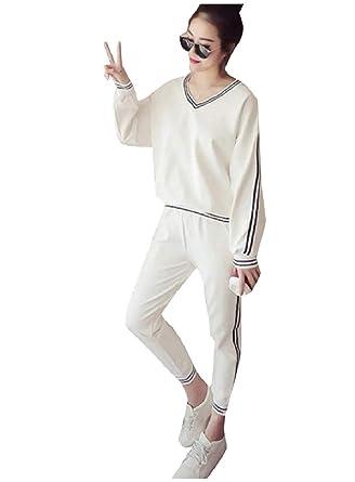 Andopa V-Cuello Espalda suéter del algodón de los pantalones del ...