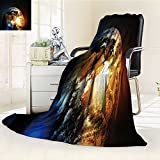 Printsonne Microfiber Fleece Comfy All Season Super Soft Cozy Blanket asia europe and africa continents on earth globe elements of this image furnish for Bed Couch and Gift Blankets(60''x 50'')