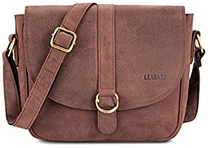 LEABAGS Milano genuine buffalo leather citybag in vintage style