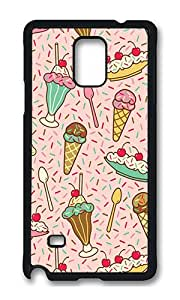 Samsung Note 4 Case,VUTTOO Cover With Photo: Delicious Dessert For Samsung Galaxy Note 4 / N9100 / Note4 - PC Black Hard Case