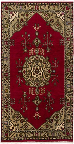 Ecarpetgallery Hand-Knotted Konya Anatolian Red Traditional 5' x 9' 100% Wool Kitchen Dining Room Area Rug from eCarpet Gallery