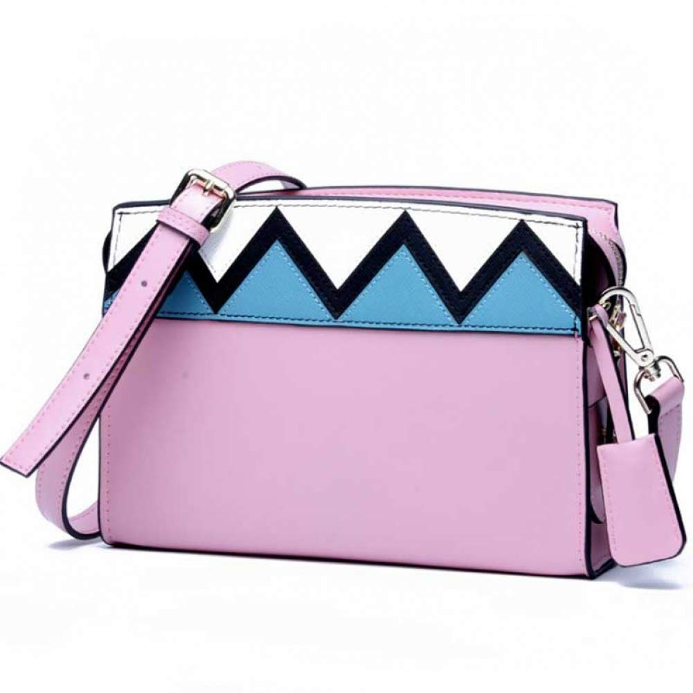 Pink Women Straw Bag Fashion Simple Shoulder Crossbody Messenger Handbag for Beach Travel Holiday
