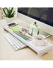 CUHAWUDBA Multifuncion Computadora de escritorio Estante de almacenamiento de teclado de madera Plastico Pen Beads Home Decor Hanger