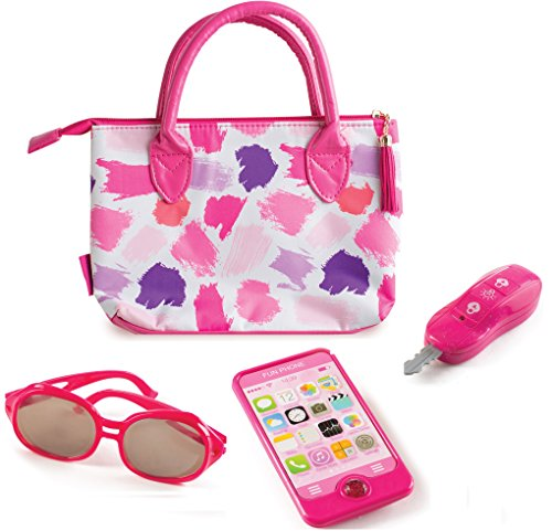 Make it Up Premium Purse and Accessories Set, Pretend Play Purse, Phone,Sunglasses and Keys for Dress up and Role Play