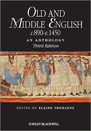 Old and Middle English c.890-c.1450  An Anthology (Blackwell Anthologies)   Amazon.co.uk  Elaine Treharne  9781405181204  Books bfc7acf0e