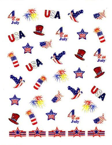 Independence Day Collection #3 Scrapbooking Stickers/ Nail Decals - Joby Nail